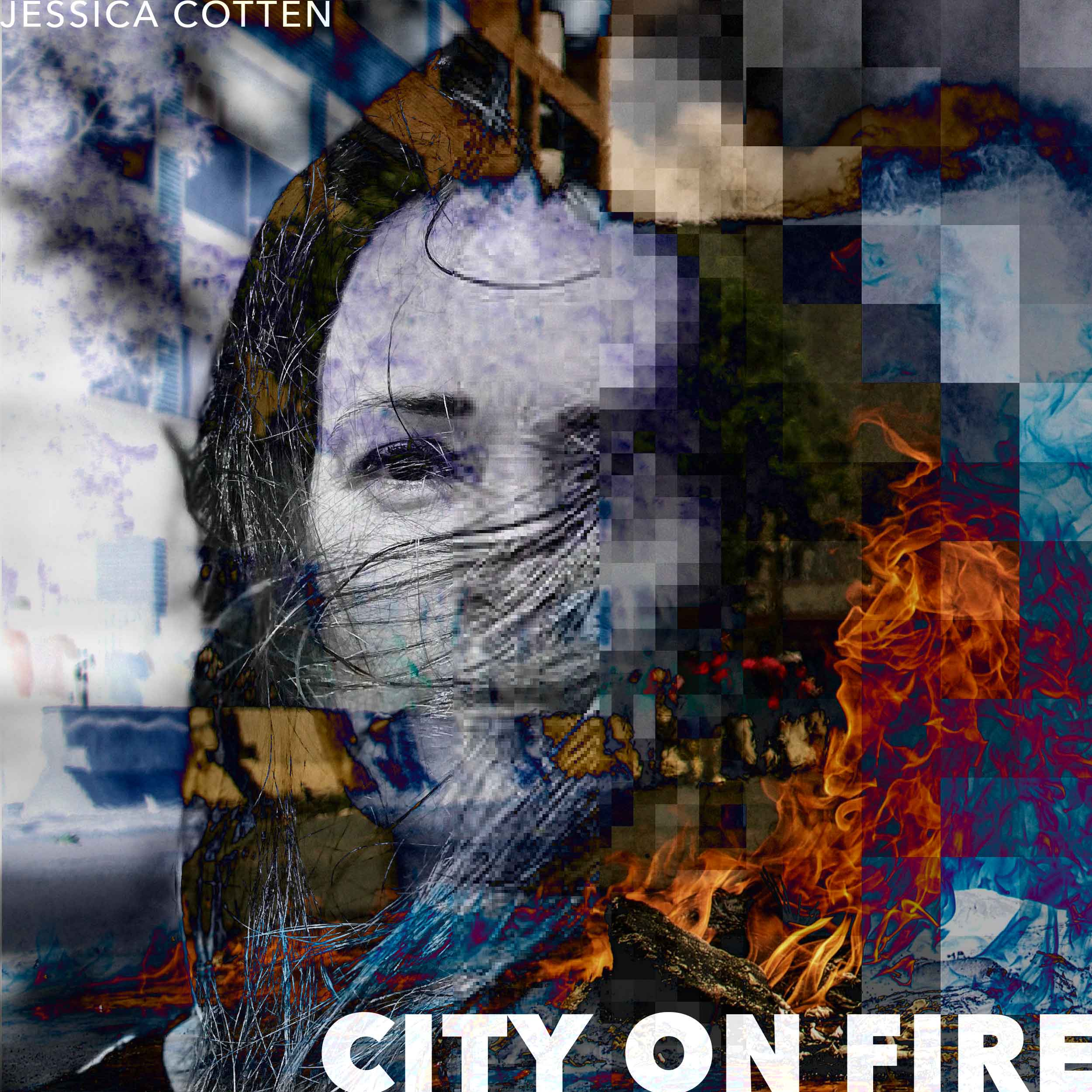 Cover artwork for City On Fire, new single from Jessica Cotten